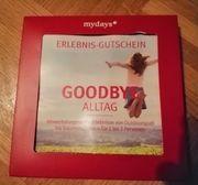 goodbye Alltag Gutschein
