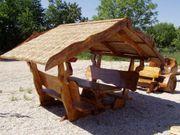 Rustikale Garnituren für Esszimmer Terrasse