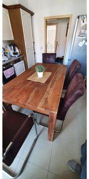 esstischgruppe 160 echtholz hochwertig