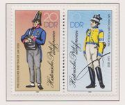 DDR-Briefmarken-Zusammendrucke aus dem Jahr 1986