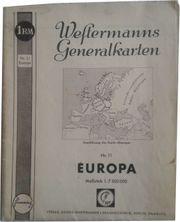 Europakarte Generalstabkarte von 1940