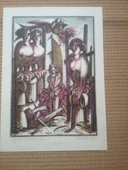 Roland Paris Farblithographie handsigniert