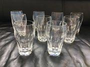 9 Gläser Bleikristall Kristall Biergläser