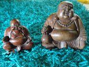 Happy Buddha Sitzend Holz Geschnitzt