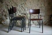 1 v 10 Stühle Kantine