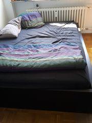 IKEA Malm Bett hoch schwarz