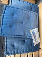 3 Blau Paletten sitzkissen