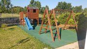 B-Ware 16 m² Fallschutzmatte Spielplatzmatten