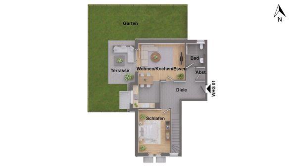 Attraktive Maisonettewohnung im KfW55 ohne