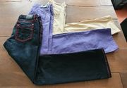 moderne Jeans und Stoffhosen