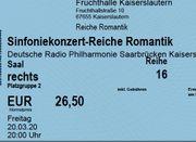 Konzert Kaiserslautern Fruchthalle 20 03