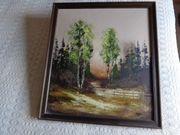 Vintage - gerahmtes Bild Landschaft in