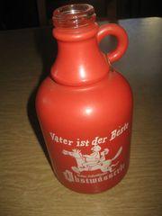 Schnaps-Flasche mit Spruch Vater ist