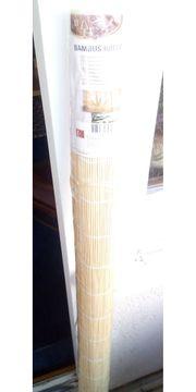 ZWEI Sonnenschutzrollos aus Bambus Neu