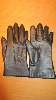 schwarze Damenhandschuhe Gr 7 Neuwertig