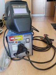 Schweißgerät mit Automatikschirn und Elektroden