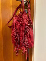 Pinke Lederhandtasche Rucksack