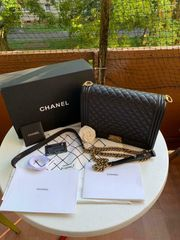 CHANEL Boy Bag Large mit