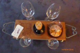 Essen und Trinken - Weinflaschenhalter -wine tray-