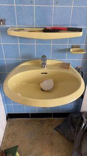 Waschbecken lindgrün 2 verschiedene