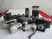 Fotoapparate alte neuere Objektive Stative