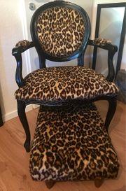 Vintage Stuhl Sessel Leo Muster