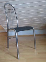 5 Stühle Polsterstühle Metallstühle Esszimmer