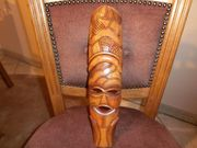 Holzmaske Deko afrikanisches Design 37