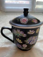 Chinesischer Teesieb aus Porzellan Aufgusstasse