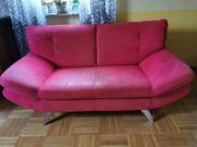 Couchkombination 3 Teile rot gebraucht