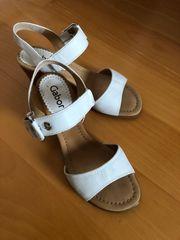 Gabor Damen Riemen-Sandaletten weiß Leder