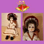 Unbeschädigte alte Puppe mit Schlafaugen