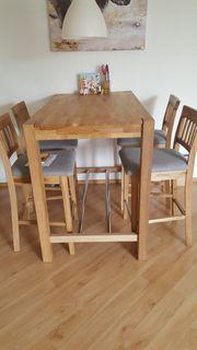 Esstisch und Stühle Barstühle Echtholz