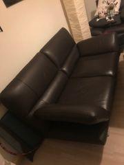 Leder-Couch Zweisitzer guter Zustand