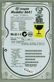 SEAGATE ST38641A Disk-Oldtimer 8 6GB