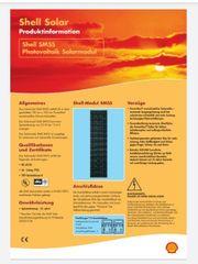 Solarmodul SM55 von Shell