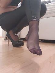 sexy getragene Nylon strümpfe u