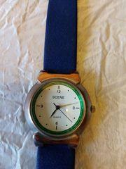 Scene-Herren-Armbanduhr gebraucht mit Gebrauchsspuren Quartz