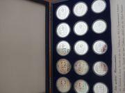 15 Silbermünzen Sarajewo Olympiade Winterspiele