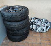 Stahlfelgen R15 inklusive Reifen Radkappen