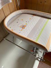 Geuther wickelauflage wickeltisch für badewanne