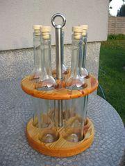 Schnapsflaschen-Rondell aus Kiefer- Massivholz geölt