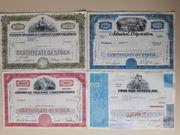 Sammelaktien - historische Wertpapiere 13 Stück