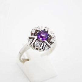 Schmuck, Brillen, Edelmetalle - Ring Gold 585er Amethyst Diamanten