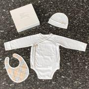 Burberry Babyset Body Mütze Lätzchen
