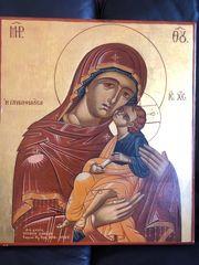 Heiligenbild auf Holz