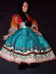 Pappmaché-Puppe Orientalische Tänzerin
