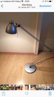 Schreibtischlampe silber höhenverstellbar