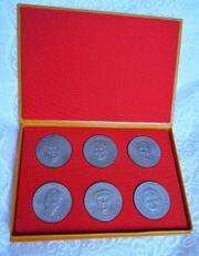 6 Gedenkmünzen Gedenkmedaillien Mansfeld Kombinat