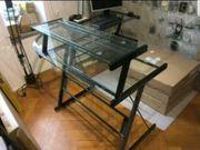 Glastische Schreibtisch Büroauflösung